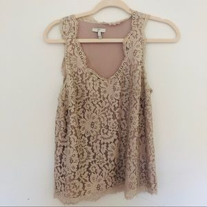 Joie Lace Blush Top